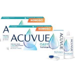 2 x Acuvue Oasys with Transitions™ - 2 x 6 soczewek + Acuvue RevitaLens 60ml GRATIS