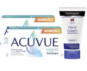 2 x Acuvue® Oasys with Transitions™ - 2 x 6 soczewek + krem GRATIS