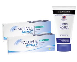 2 x 1-DAY ACUVUE® Moist Multifocal 2 x 30 soczewek + krem GRATIS