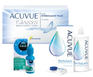 ACUVUE® OASYS + ACUVUE™ REVITALENS + GRATIS BLINK CONTACTS®