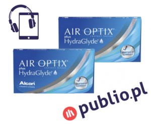 2 x Air Optix Plus HydraGlyde - 6 szt. + Kod Publio.pl GRATIS