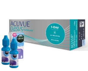 Acuvue® Oasys 1-Day with HydraLuxe - 30 soczewek i BLINK INTENSIVE + BLINK INTENSIVE GRATIS