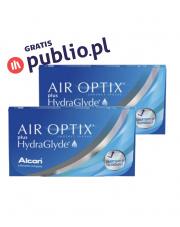 2 x AIR OPTIX® plus HydraGlyde® - 6 szt. + Kod Publio.pl GRATIS