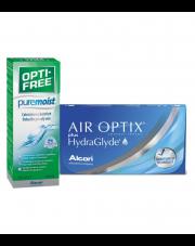 AIR OPTIX® plus HydraGlyde® 6 szt. + Opti-Free PureMoist 50% taniej
