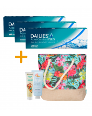 3 x DAILIES® AquaComfort Plus® - 3 x 30 szt.  + GRATISY