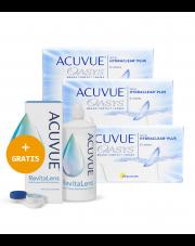 3 x ACUVUE® OASYS - 3 x 6 szt. + GRATIS płyn  ACUVUE™ RevitaLens 360 ml