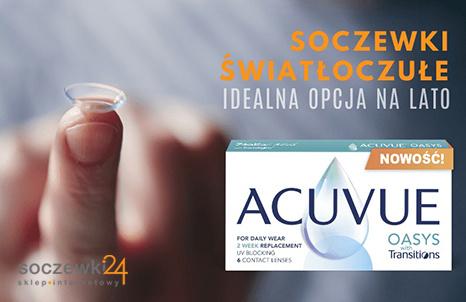 Soczewki światłoczułe ACUVUE® OASYS with Transitions™ - idealna opcja na lato
